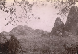 General view looking towards rock with Asoka inscriptions at Jaugada, Ganjam District 10032248